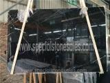 First Level Nero Black Marquina Polished Marble Slab Wholesale Price Manufactures