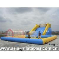 Inflatable Zorbing Ramp Inflatable Zorb Ramp and Water Pool Combo