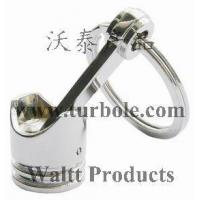 China Polished Chrome,Creative Hot Engine Piston Keychain KeyChain Ring KeyFob Keyring wholesale