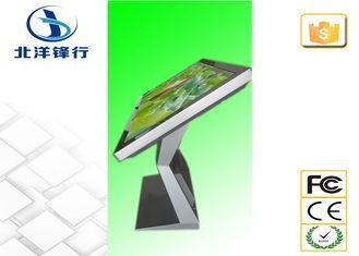 Quality Floor Standing LCD Interactive Touch Screen Kiosk 16.7M 600cd/m2 for sale