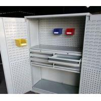 China Steel Garage Tool Cabinet Storage Systems with Plastic Bins and Drawers on sale