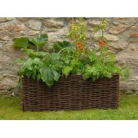 High quality green wicker surround planting Bag wicker plant pots hanging baskets Manufactures