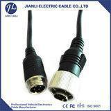 China Rear View Camera Cable 4 pin aviation connector to rca male adaptor on sale