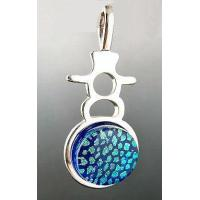 China 3 Escargots Dichroic Glass Jewelry - Pendant, Cobalt Blue on sale