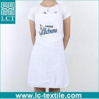 China Custom print Nestle 80 polyester 20 cotton cheap gift promotional apron on sale