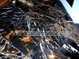 Stone Tiles & Slabs Black And Gold Marble Nero Portoro Marble Floor Tiles Polishing Manufactures