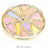 China Dichroic Glass, Wheel 3 inch Secondary wheel non Textured Dichroic Glass fits ECD on sale