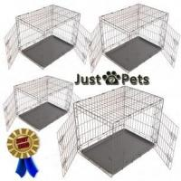 Pets SMALL - MEDIUM - LARGE or EXTRA LARGE DOG PUPPY PORTABLE METAL TRAINING CARRY CAGE CRATE Manufactures