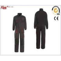 China Factory production long sleeves reinforcement coverall, chest pockets elastic waist coverall wholesale