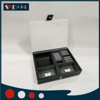 Black Leather Watch Box, Mens Jewelry Box,Display Case Drawer & Lock Manufactures