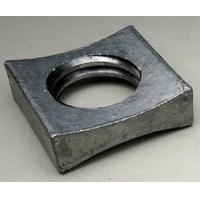 1-8 Square Concave MF Locknut .021 OS, Steel Hot Dip Galvanized