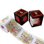 China Printed pattern 2 ply or 3 ply virgin wood plup toilet tissue wholesale