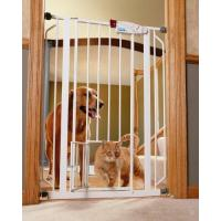 China Carlson 0941PW Extra-Tall Walk-Through Gate with Pet Door,White-Doors wholesale