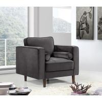 China LFDA-003 Grey Velvet Upholstered Accent Design Chair wholesale
