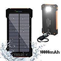 Solar Phone Chargers High Quality & Reliable Backup--10000mah