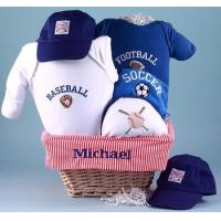 China Personalized Baby Gifts All Sports Personalized Baby Gift Basket on sale