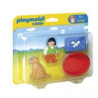 China Playmobil 1.2.3 #6796 - Girl with Dog on sale