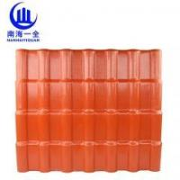 Brick red synthetic resin tile