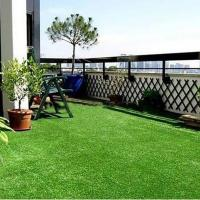China Hot Sale Natural Looking Super Soft 4 Tones Color Artificial Grass for Garden and Courtyard on sale