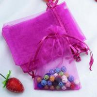 China Jewelry packaging custom logo organza gift pouch wholesale