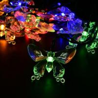 China Multi-Color Solar Energy Powered Led Christmas Lights String for Home Garden on sale