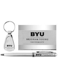 China Pen, Key Chain, and Business Card Holder BYU Gift Set on sale