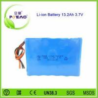 18650 3.7v 13.2ah rechargeable lithium ion battery for medical electronic equipment Manufactures