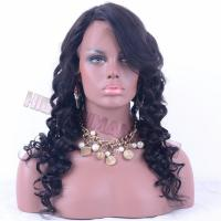 China Lace Wig 22inch natural color loose wave lace wig wholesale