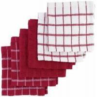 "Ritz 100% Terry Cotton, Highly Absorbent Dish Cloth Set, 12"" x 12"", 6-Pack, Paprika Red"