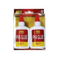 151 Products 4 X 151 Adhesives Pva Glue . Non Toxic. Paper . Card . Fabric . Art + Craft from 151