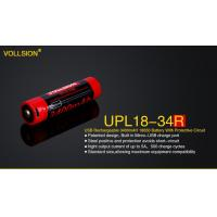 Battery & Charger UPL18-34R Built in Mirco-USB charge 3400mAH 18650 battery with protective Circuit