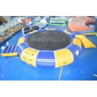 China 0.9mm PVC Tarpaulin Inflatable Water Trampoline Combo For Water Sports wholesale