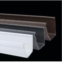 China PVC Gutters Black or White Plastic Rain Gutters and Roof Drain Downspout for Home on sale